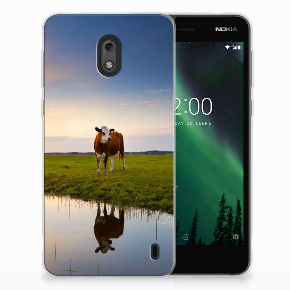 Nokia 2 TPU Hoesje Design Koe