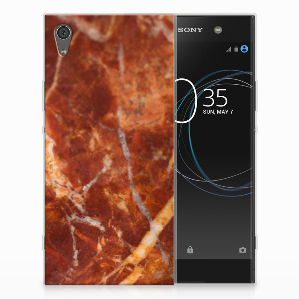 Sony Xperia XA1 Ultra TPU Hoesje Design Marmer Bruin