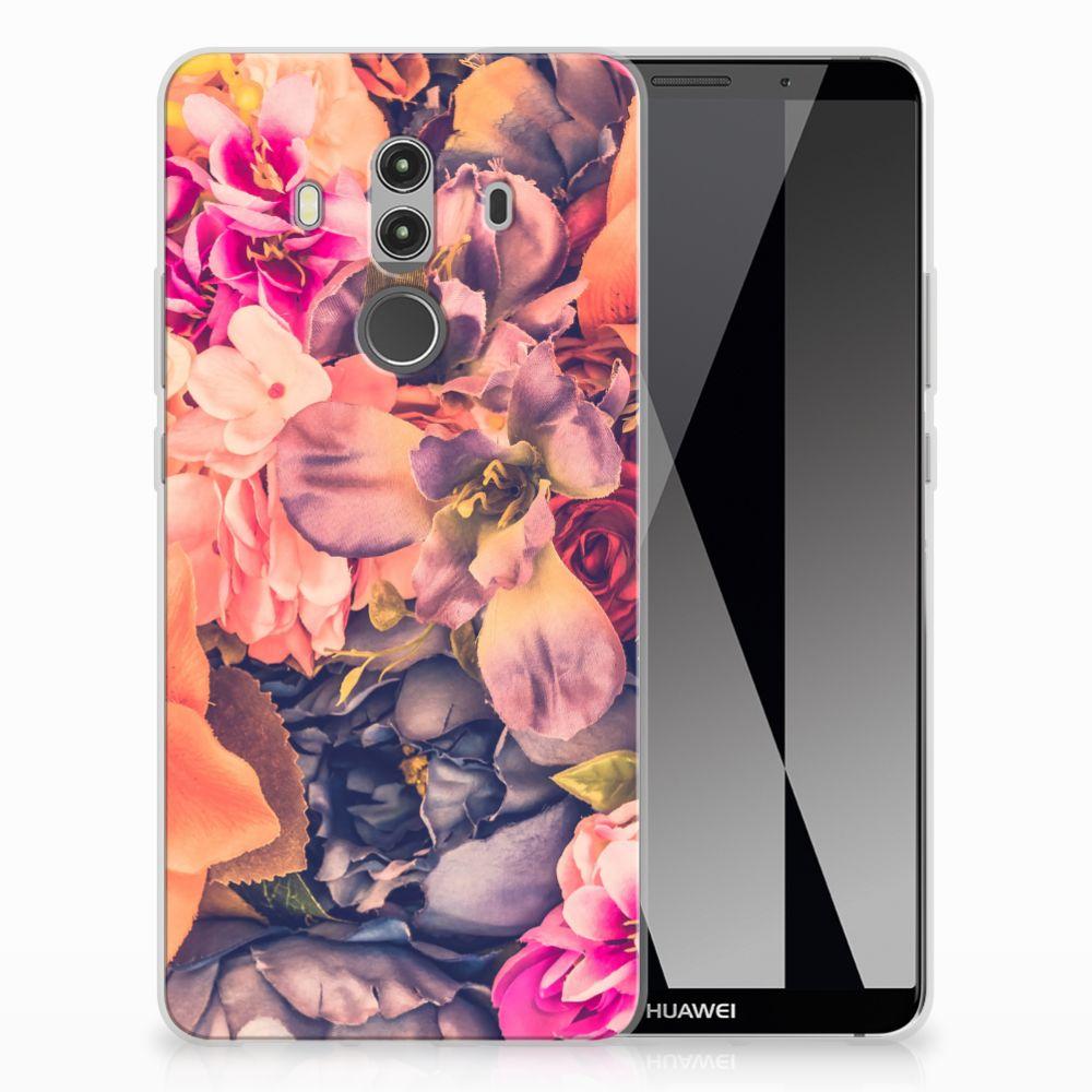 Huawei Mate 10 Pro TPU Hoesje Design Bosje Bloemen