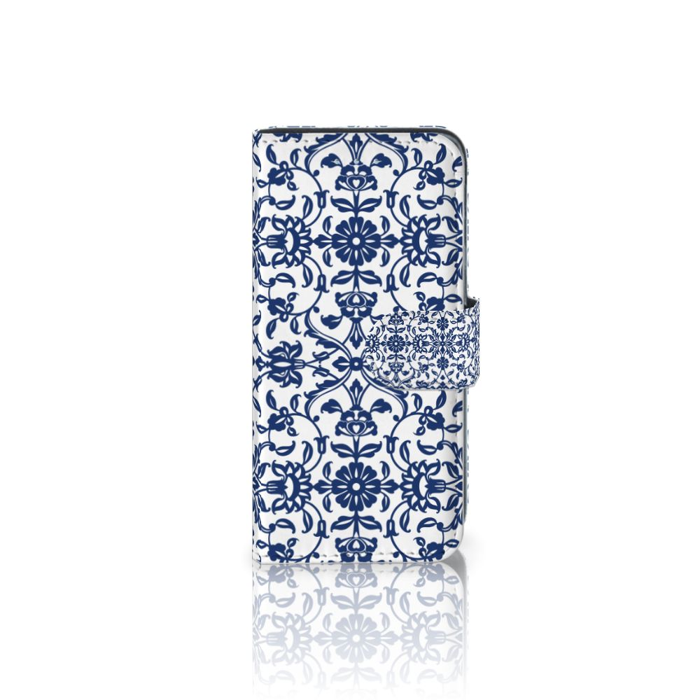 Samsung Galaxy A5 2016 Boekhoesje Flower Blue