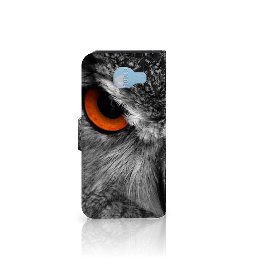 Samsung Galaxy A5 2016 Telefoonhoesje met Pasjes Uil