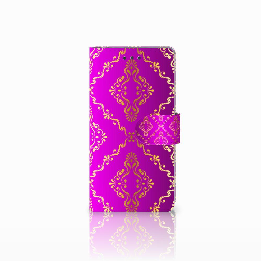 Sony Xperia E5 Uniek Boekhoesje Barok Roze