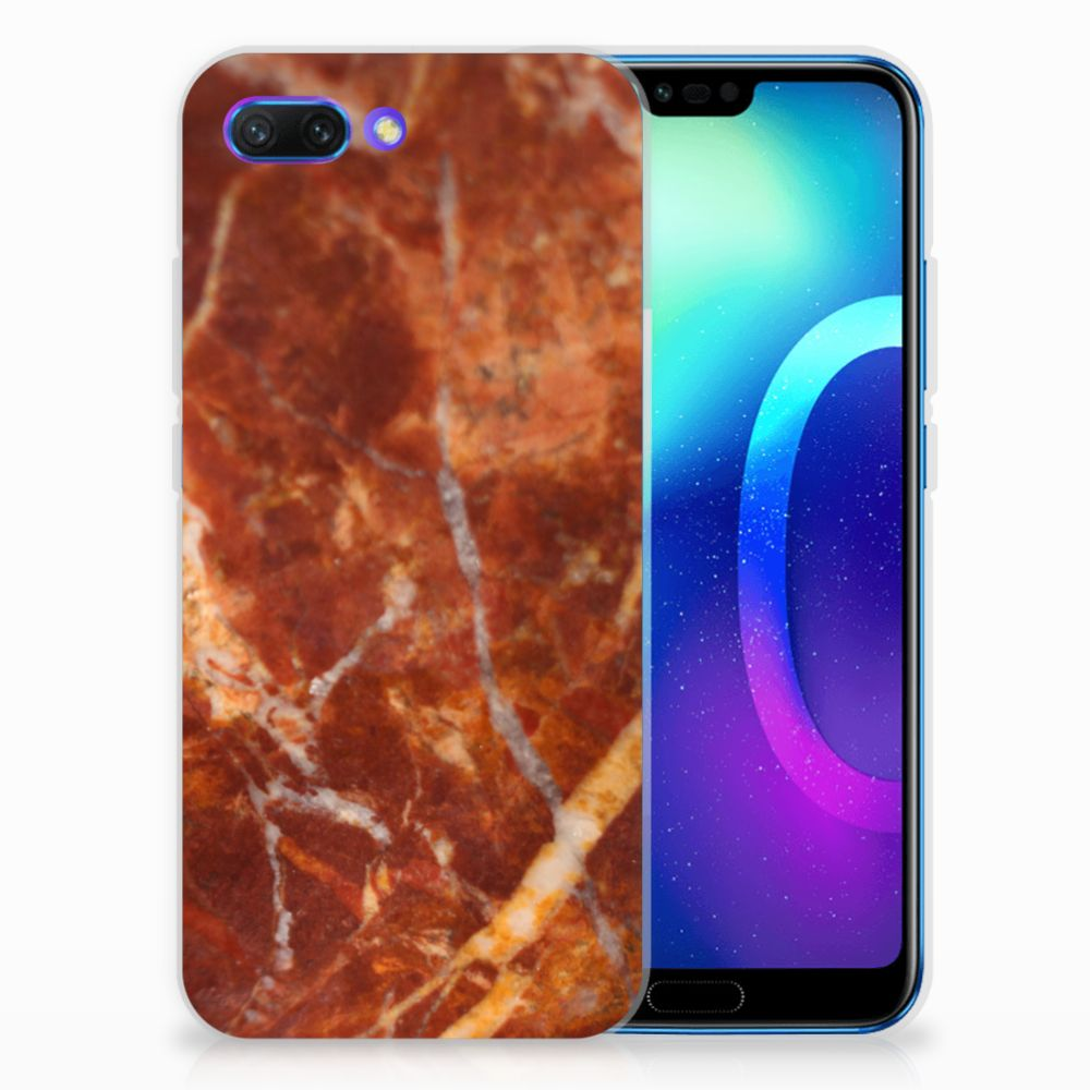 Huawei Honor 10 TPU Hoesje Design Marmer Bruin