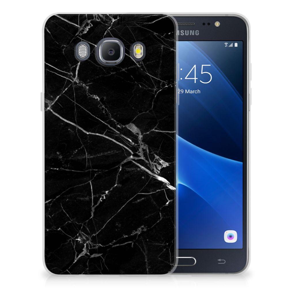 Samsung Galaxy J5 2016 TPU Siliconen Hoesje Marmer Zwart - Origineel Cadeau Vader