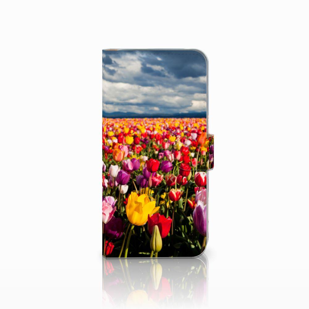 HTC Desire 10 Pro Uniek Boekhoesje Tulpen