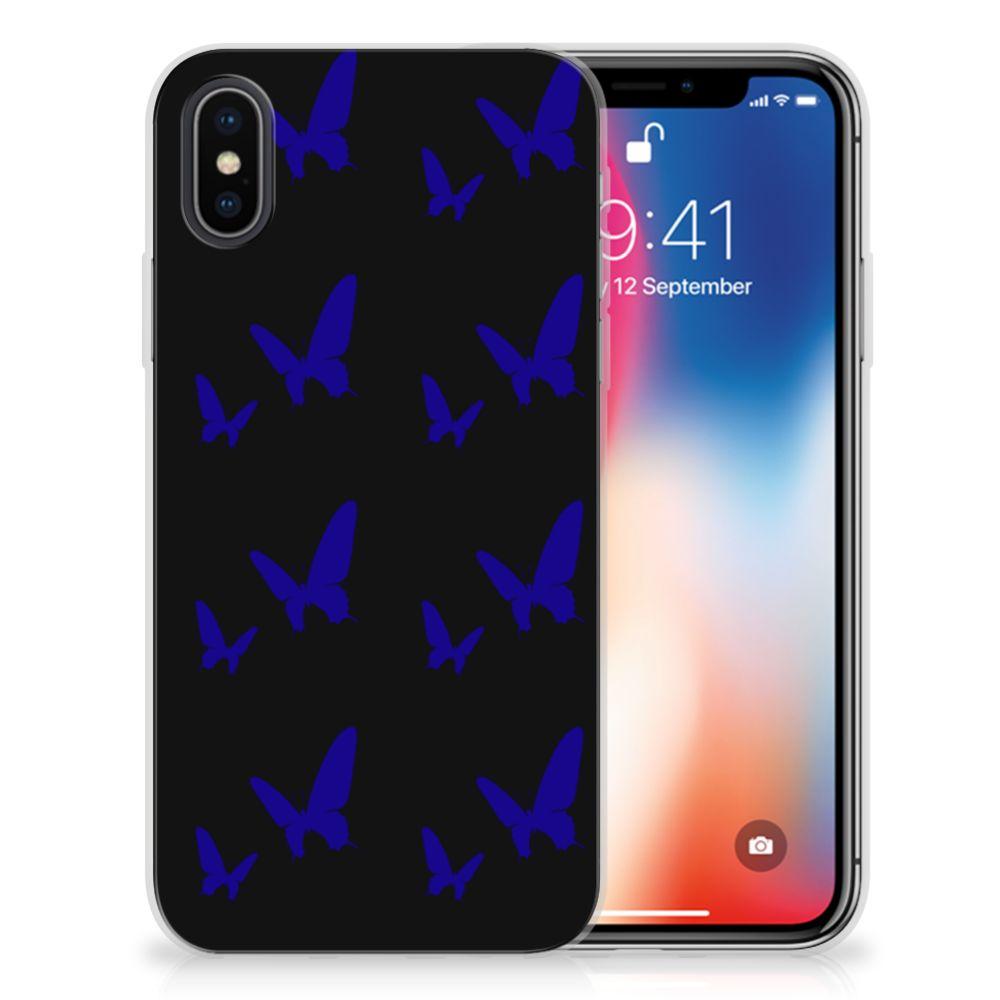 Apple iPhone X | Xs TPU bumper Vlinder Patroon