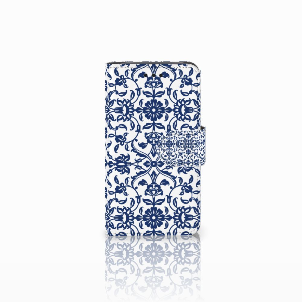 Samsung Galaxy Core i8260 Boekhoesje Flower Blue