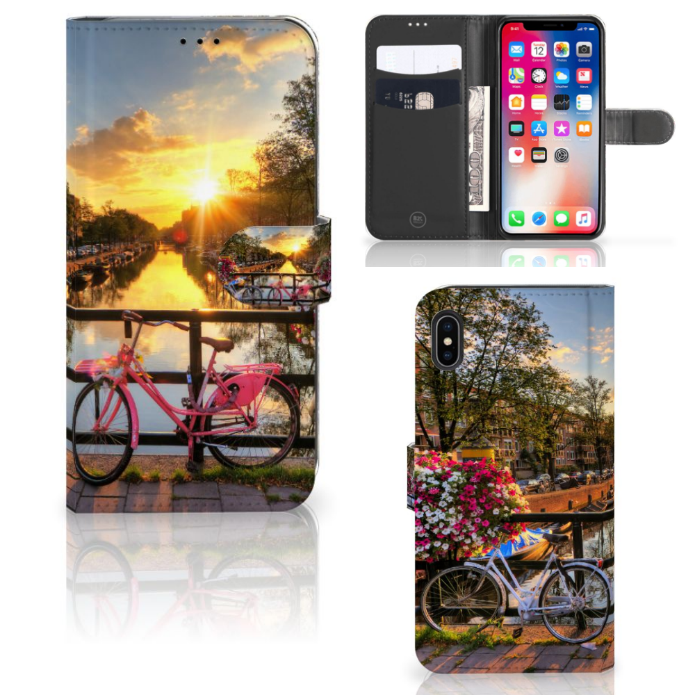 Apple iPhone Xs Max Flip Cover Amsterdamse Grachten