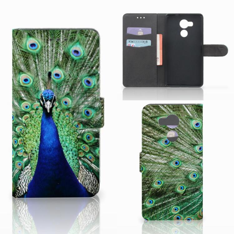 Huawei Mate 8 Telefoonhoesje met Pasjes Pauw