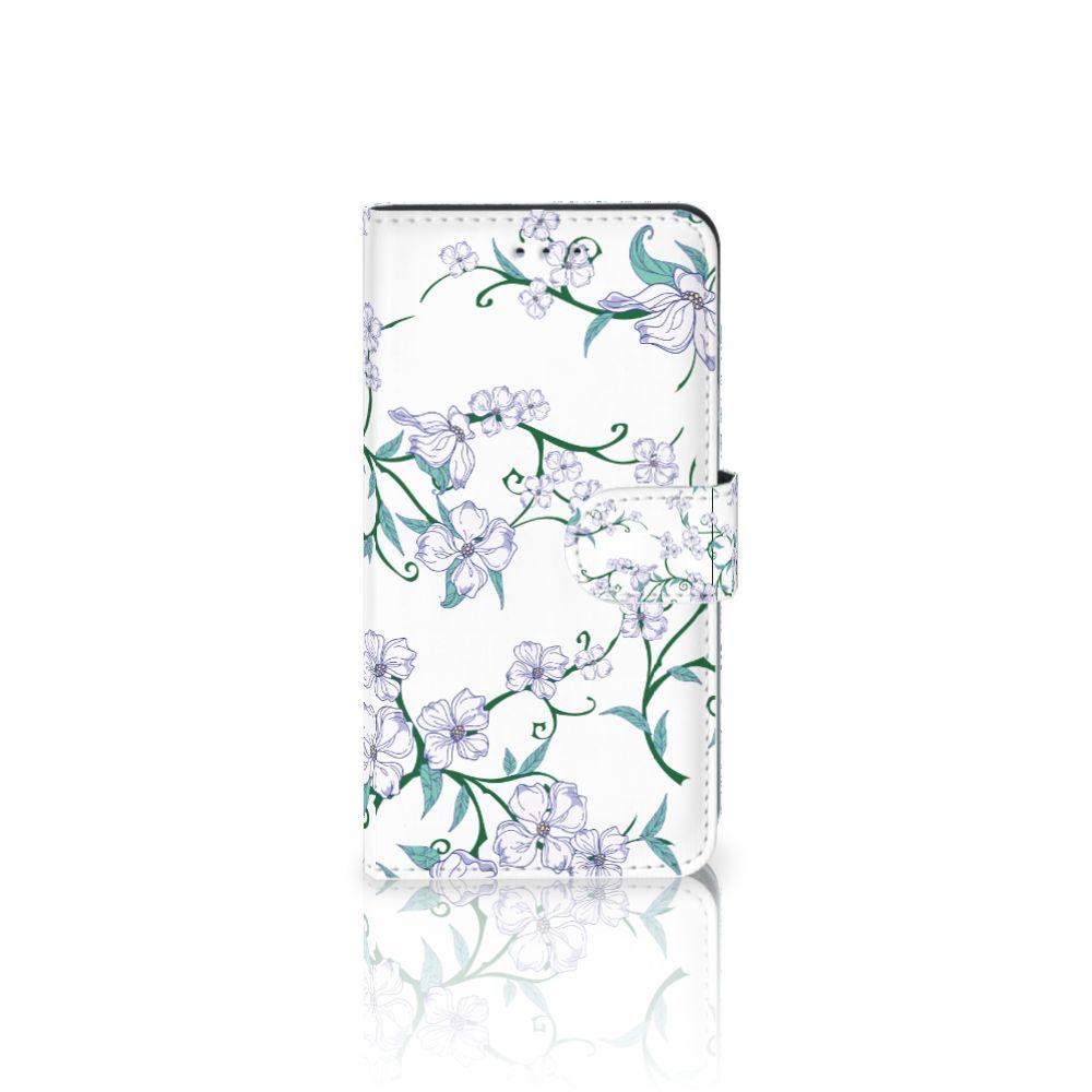 Samsung Galaxy J4 2018 Uniek Boekhoesje Blossom White