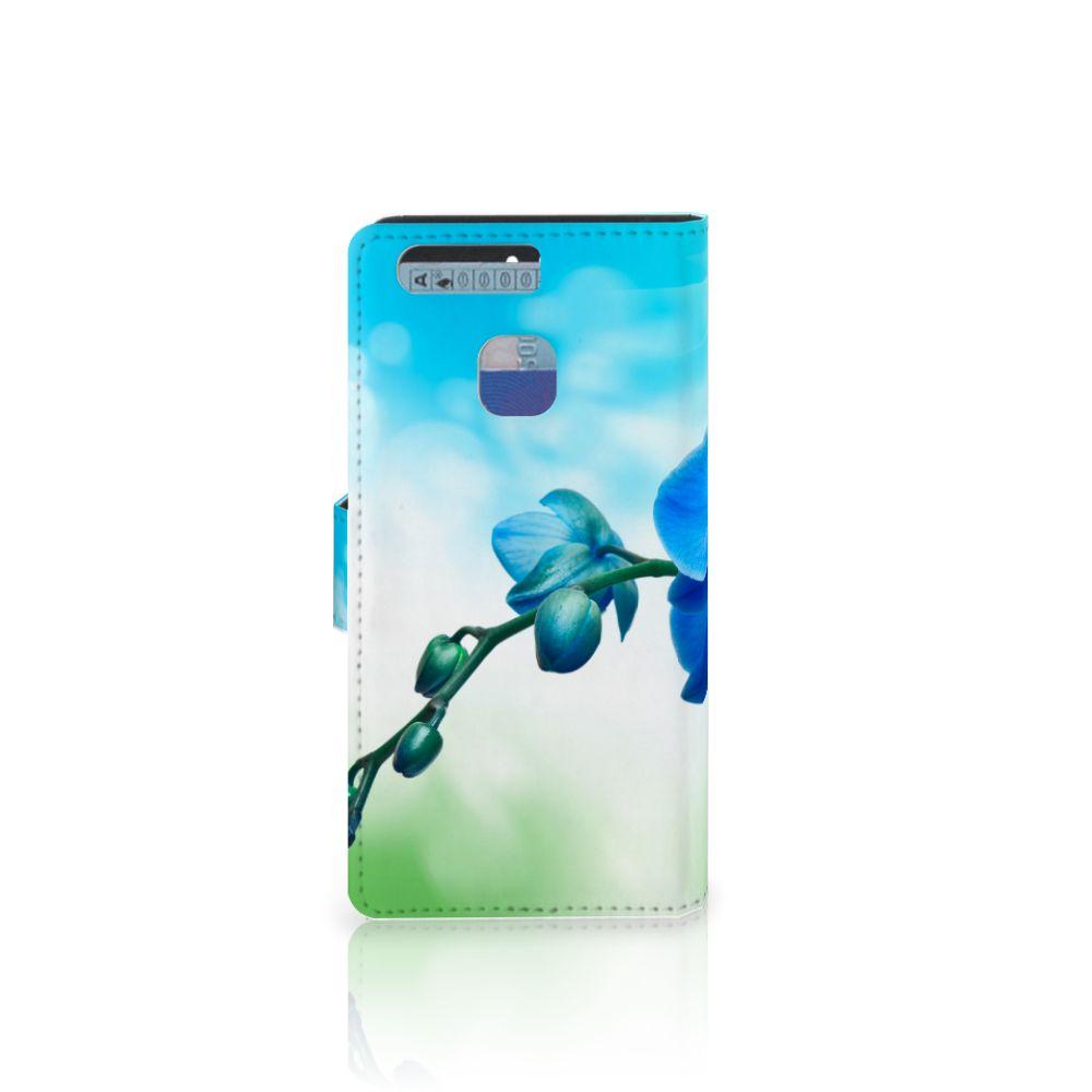 Huawei P9 Hoesje Orchidee Blauw