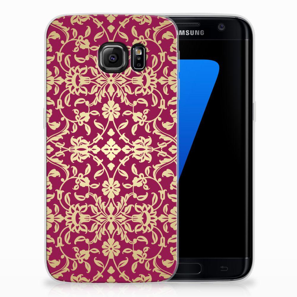 Siliconen Hoesje Samsung Galaxy S7 Edge Barok Pink