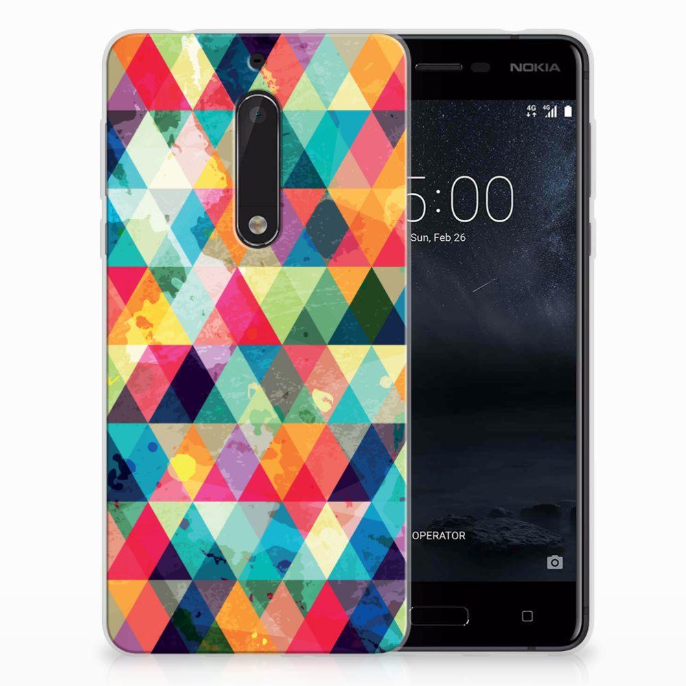 Nokia 5 Uniek TPU Hoesje Geruit