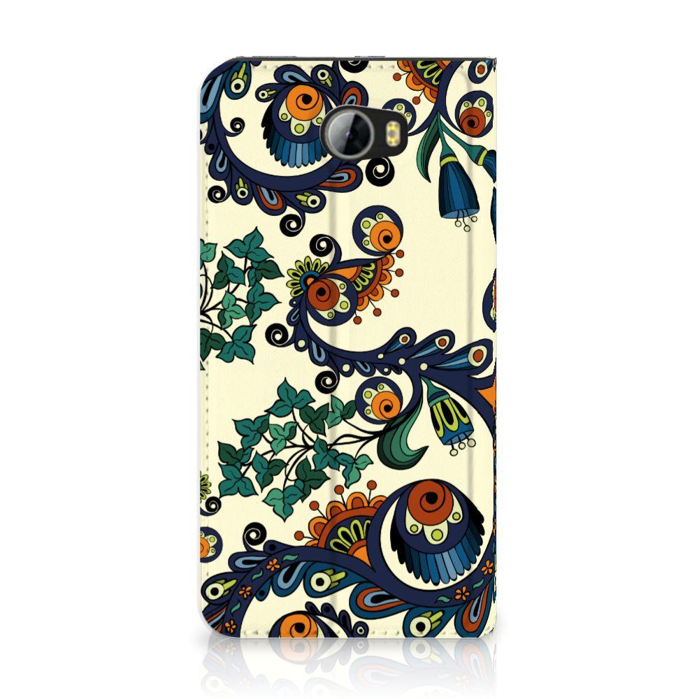 Huawei Y5 2 | Y6 Compact Standcase Hoesje Design Barok Flower