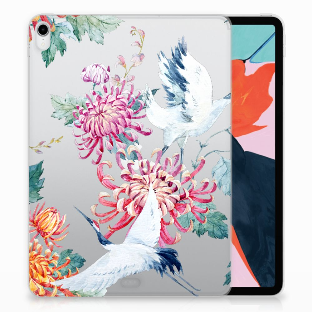 Apple iPad Pro 11 inch (2018) Uniek TPU Hoesje Bird Flowers