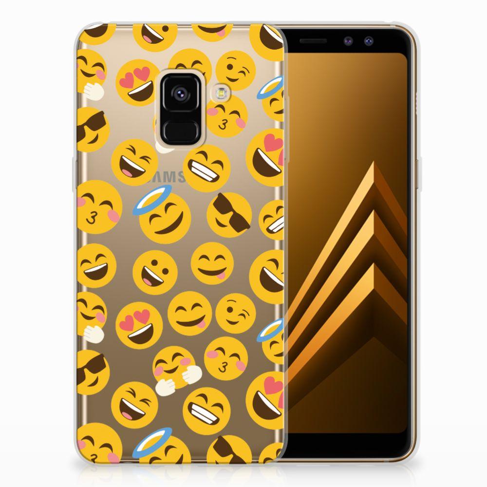 Samsung Galaxy A8 (2018) TPU Hoesje Design Emoji