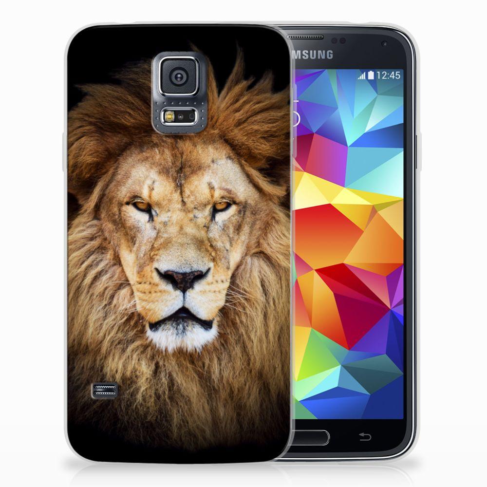 Samsung Galaxy S5 TPU Hoesje Design Leeuw