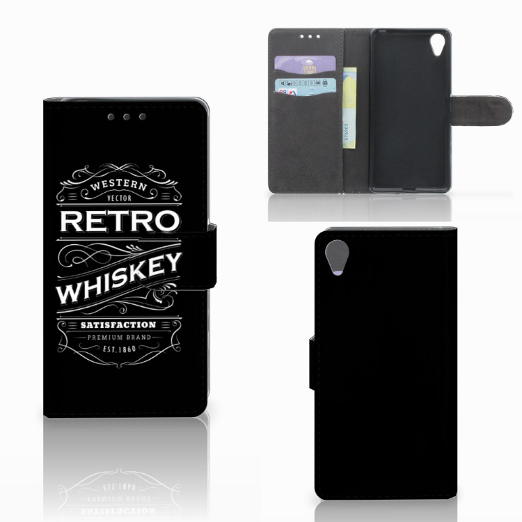 Sony Xperia X Book Cover Whiskey