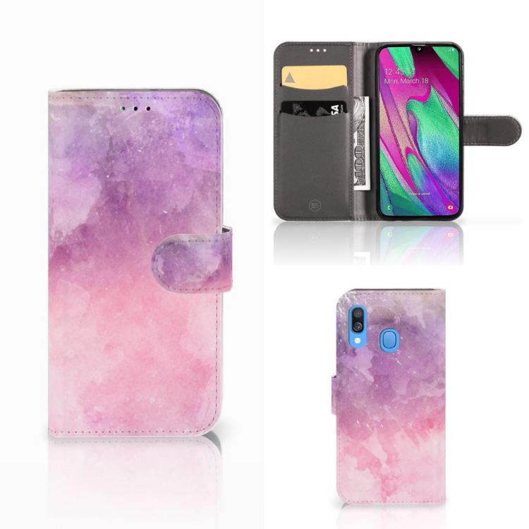 Hoesje Samsung Galaxy A40 Pink Purple Paint