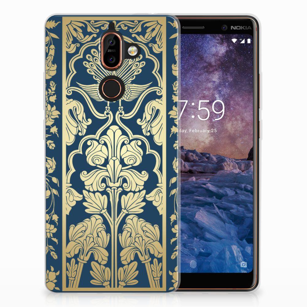 Nokia 7 Plus TPU Hoesje Golden Flowers