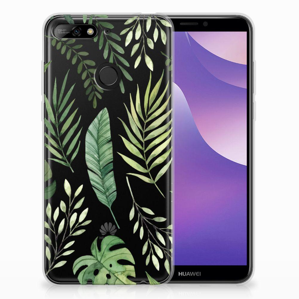 Huawei Y6 (2018) TPU Case Leaves