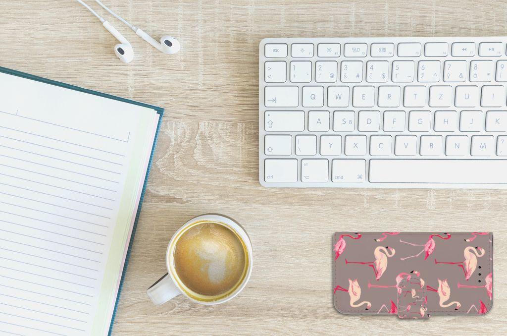 Apple iPhone X | Xs Uniek Boekhoesje Flamingo