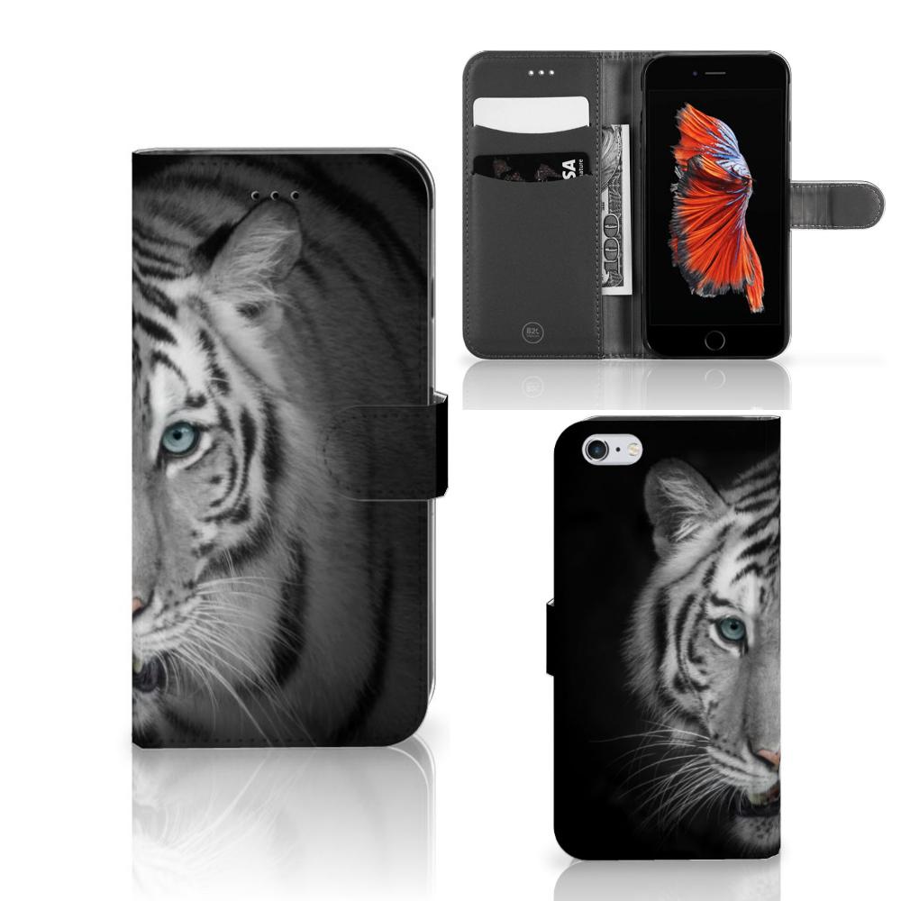 Apple iPhone 6 Plus | 6s Plus Telefoonhoesje met Pasjes Tijger