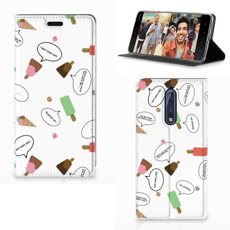 Nokia 8 Flip Style Cover IJsjes