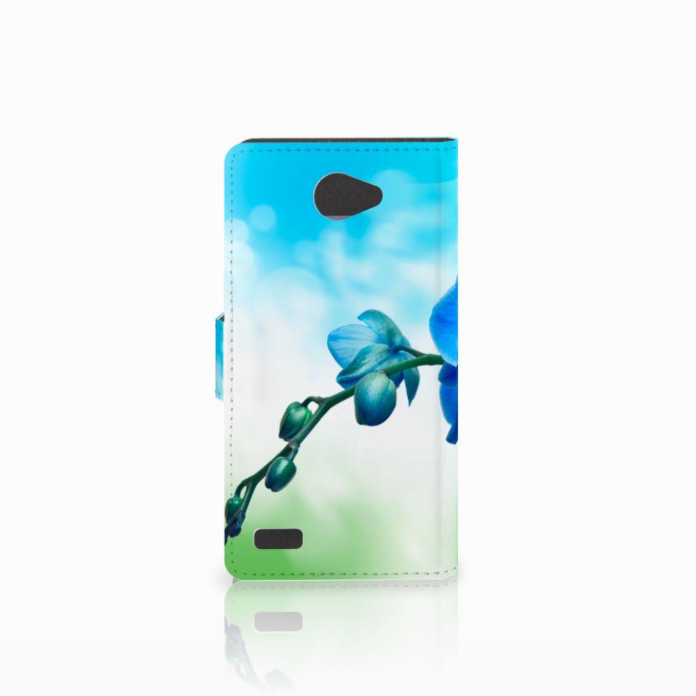 LG Bello 2 Hoesje Orchidee Blauw