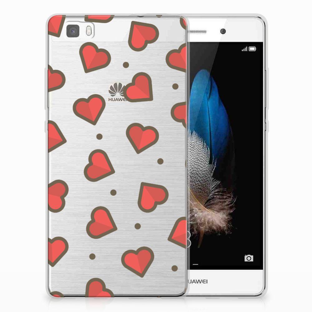 Huawei Ascend P8 Lite TPU Hoesje Design Hearts