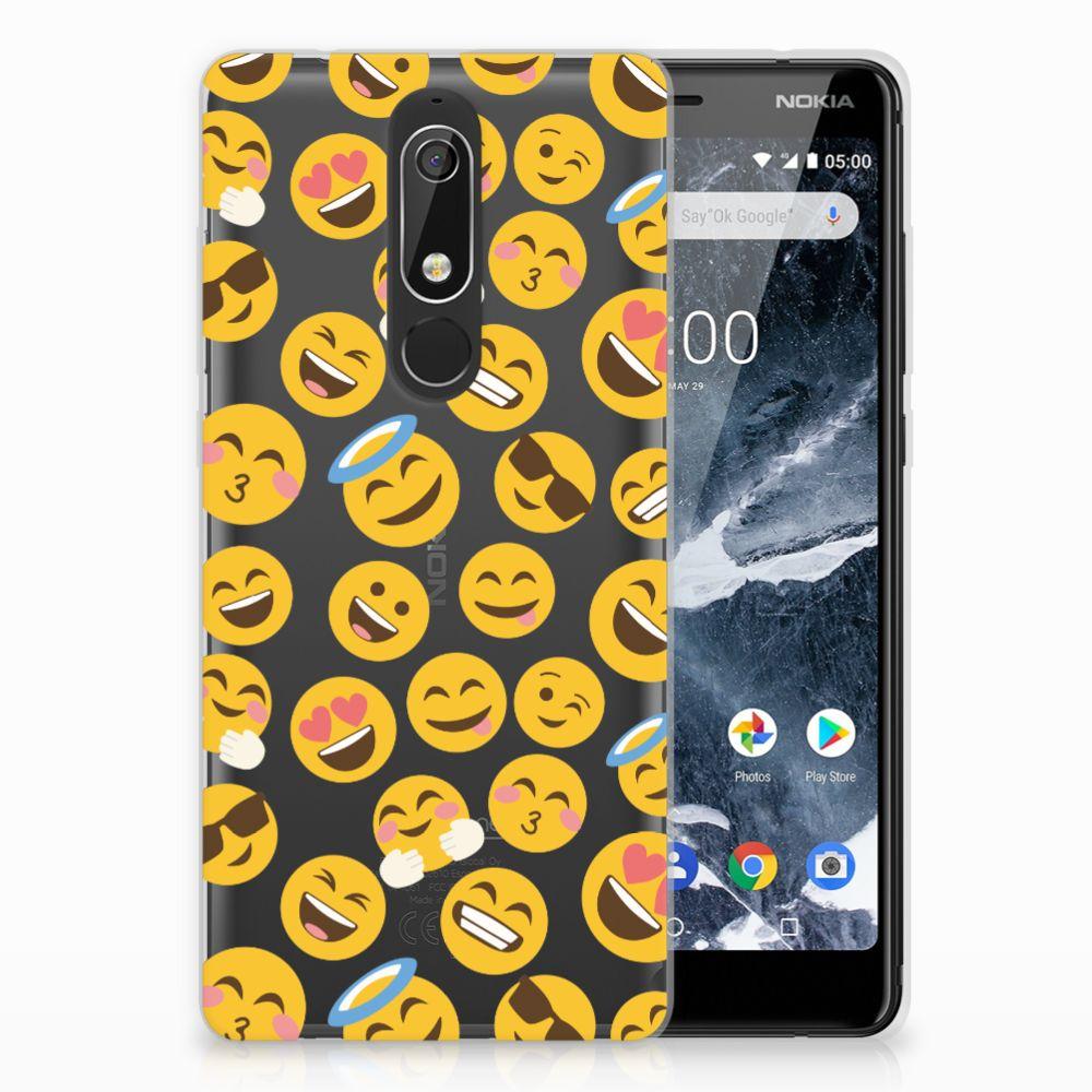 Nokia 5.1 (2018) TPU Hoesje Design Emoji