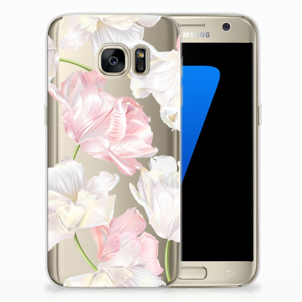 Samsung Galaxy S7 TPU Hoesje Design Lovely Flowers