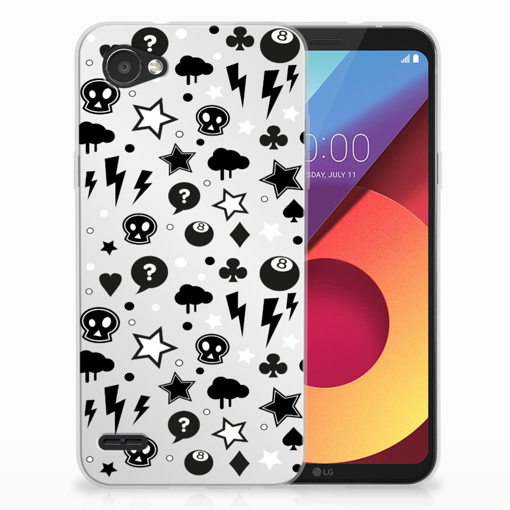 Silicone Back Case LG Q6   LG Q6 Plus Silver Punk