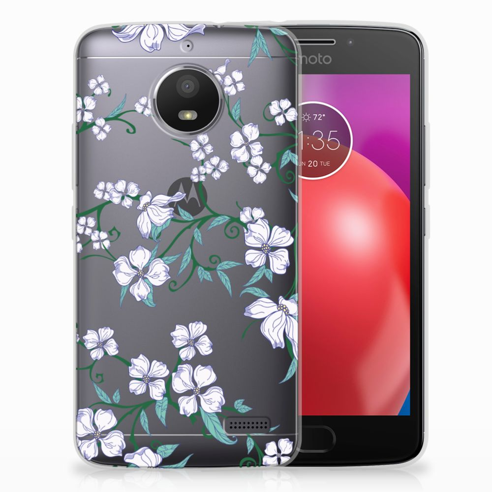 Motorola Moto E4 Uniek TPU Hoesje Blossom White