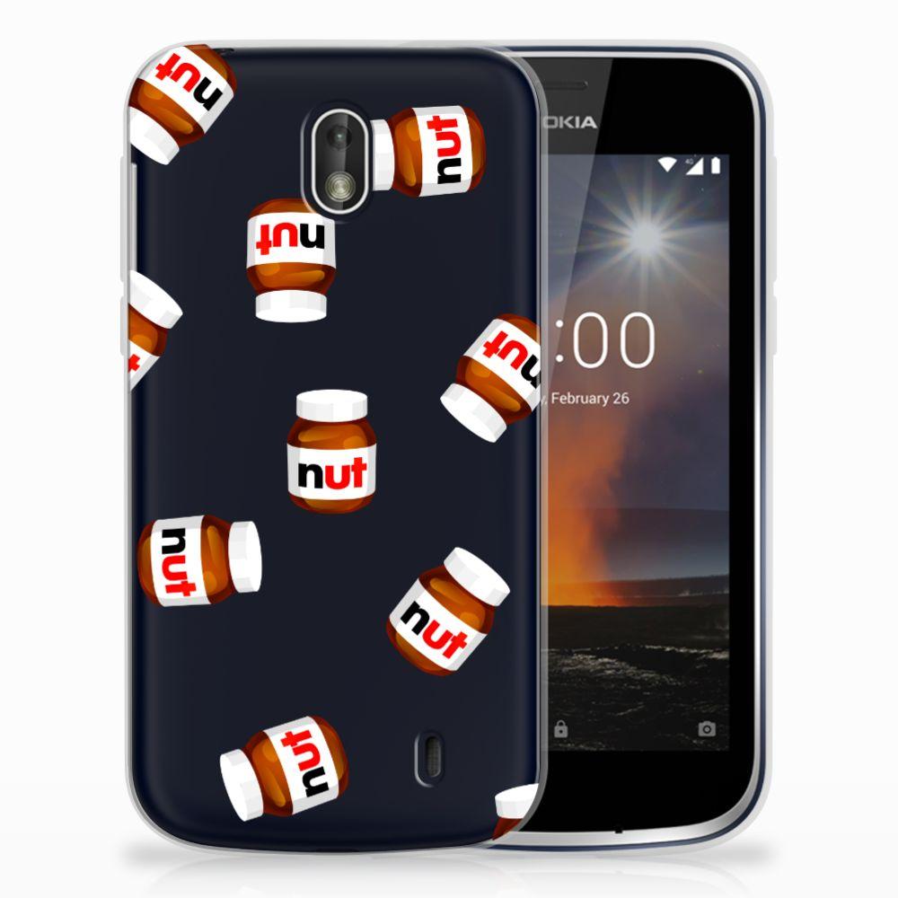 Nokia 1 Siliconen Case Nut Jar