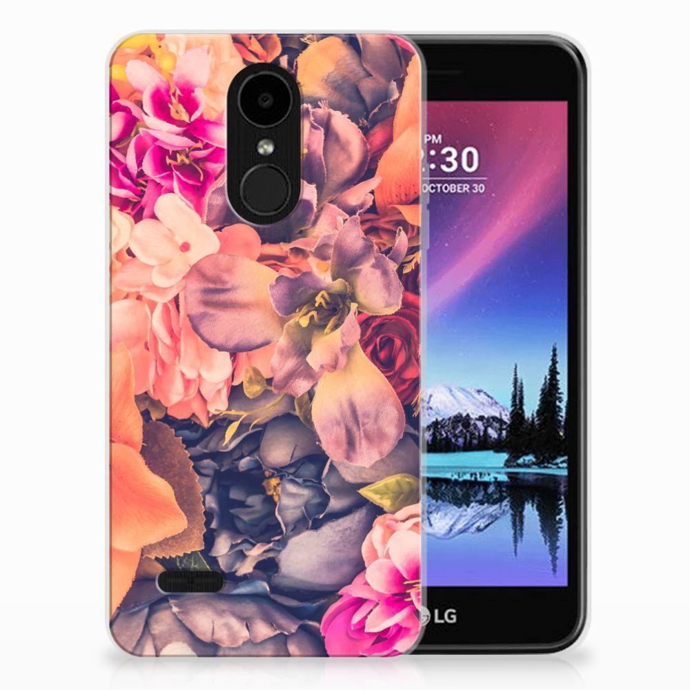 LG K4 (2017) TPU Hoesje Design Bosje Bloemen