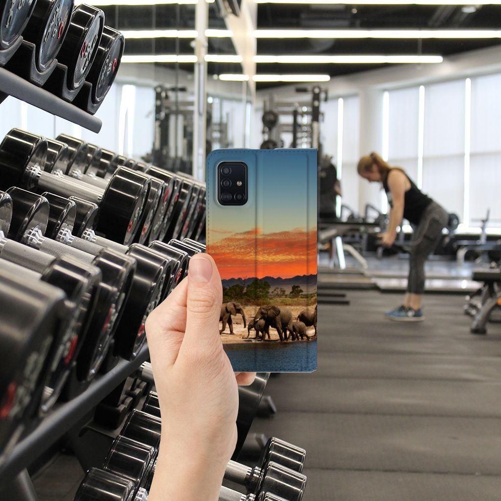 Samsung Galaxy A51 Hoesje maken Olifanten
