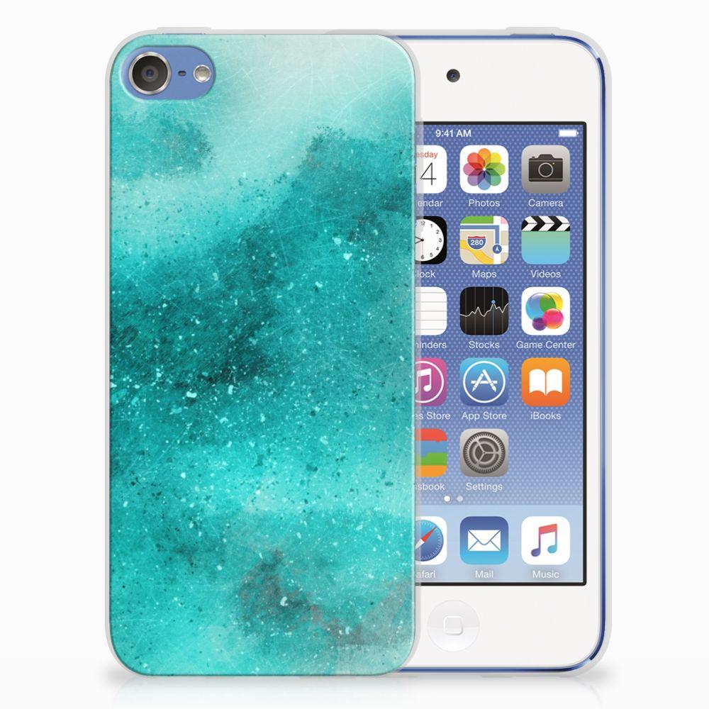 Apple iPod Touch 5 | 6 Uniek TPU Hoesje Painting Blue