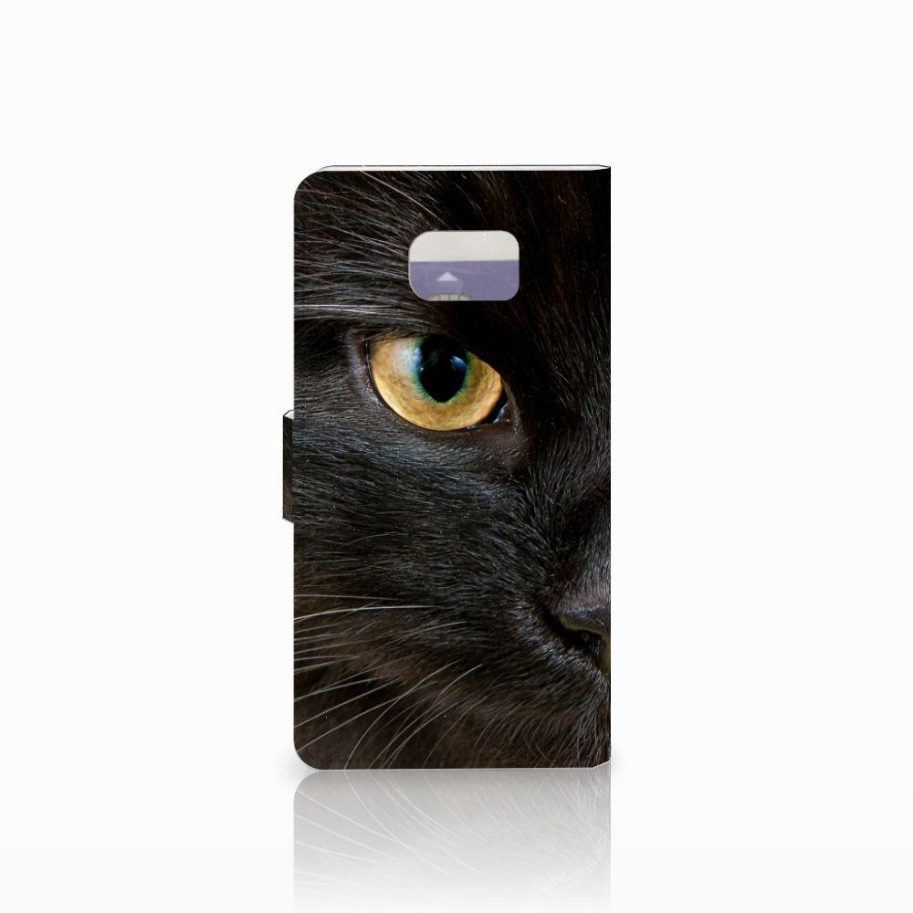 Samsung Galaxy Note 5 Telefoonhoesje met Pasjes Zwarte Kat