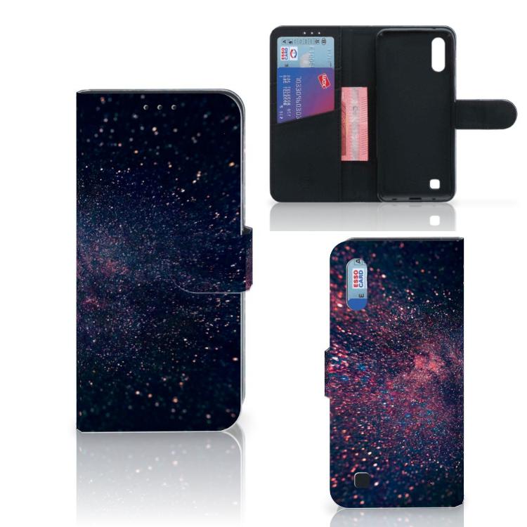Samsung Galaxy M10 Bookcase Stars