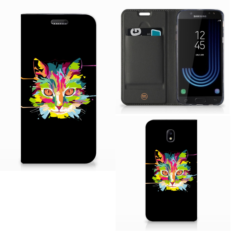 Samsung Galaxy J5 2017 Magnet Case Cat Color