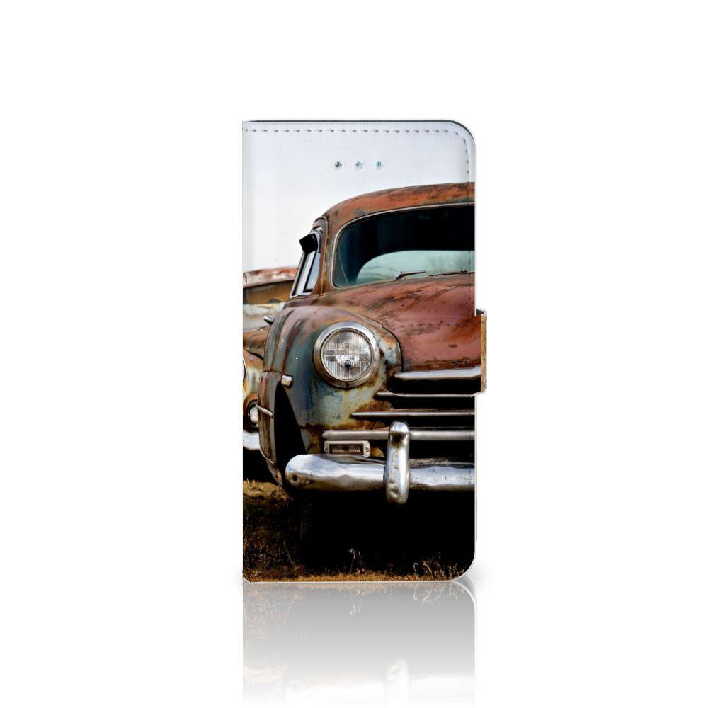 Honor 4A | Y6 Uniek Boekhoesje Vintage Auto