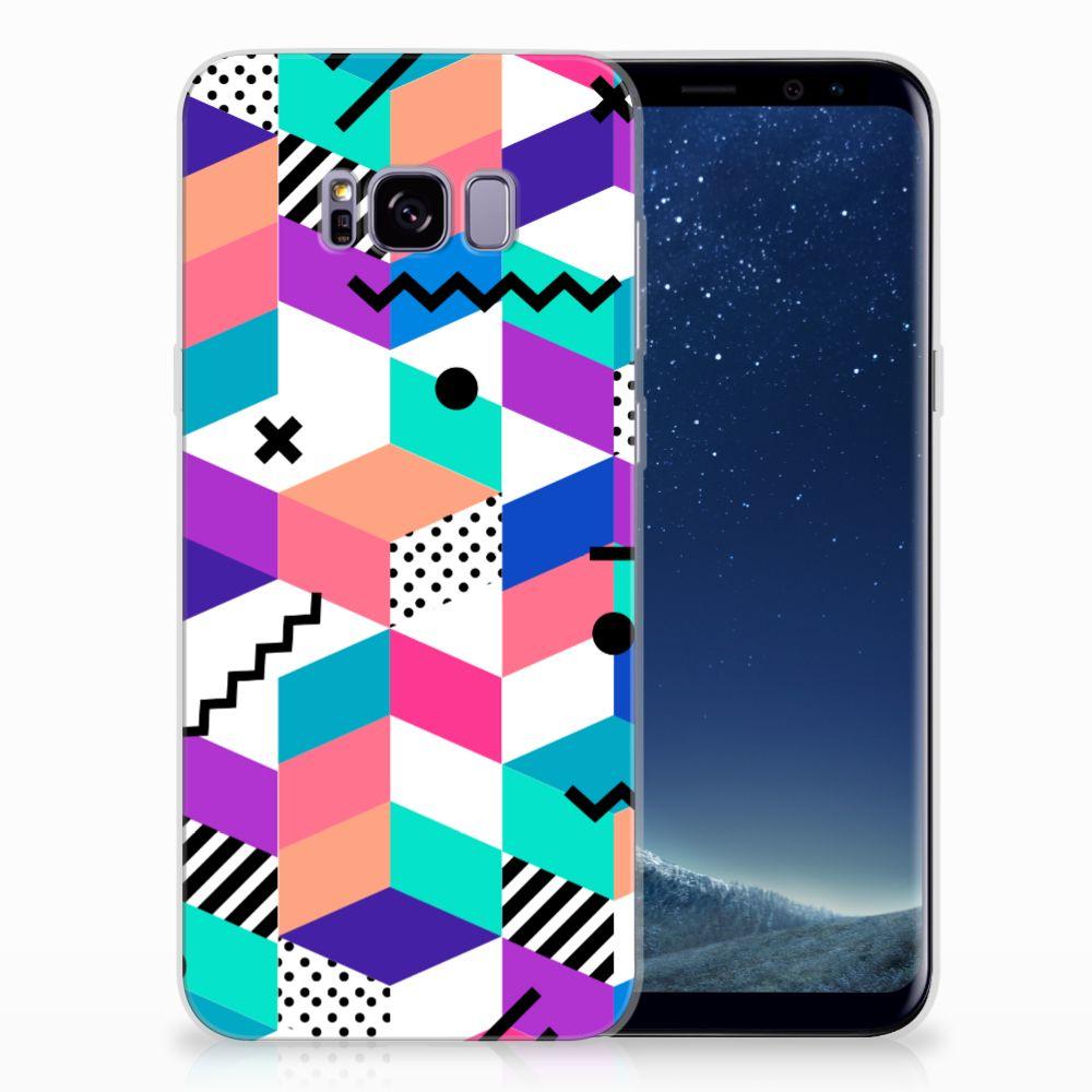 Samsung Galaxy S8 Plus TPU Hoesje Blokken Kleurrijk