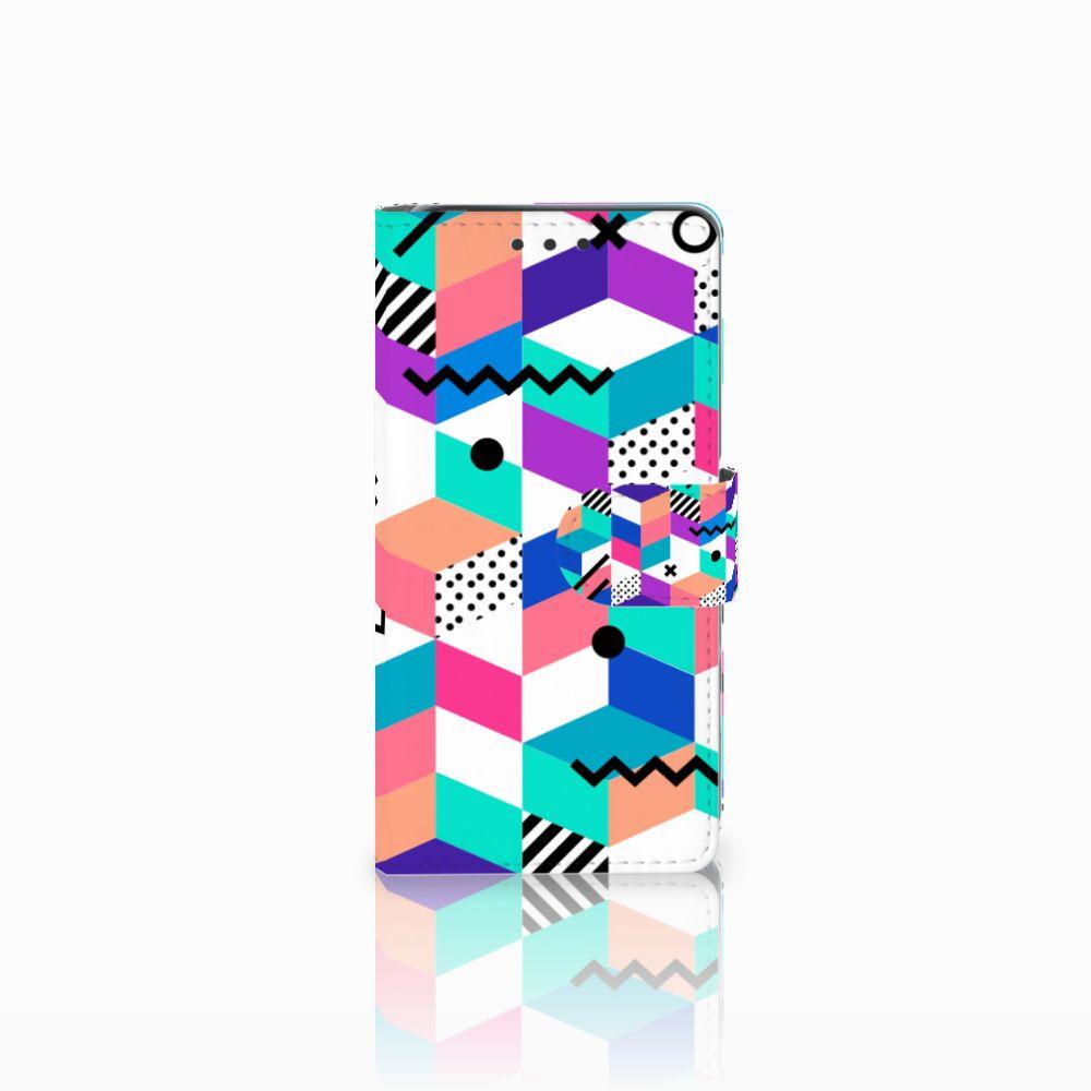 Sony Xperia X Bookcase Blokken Kleurrijk