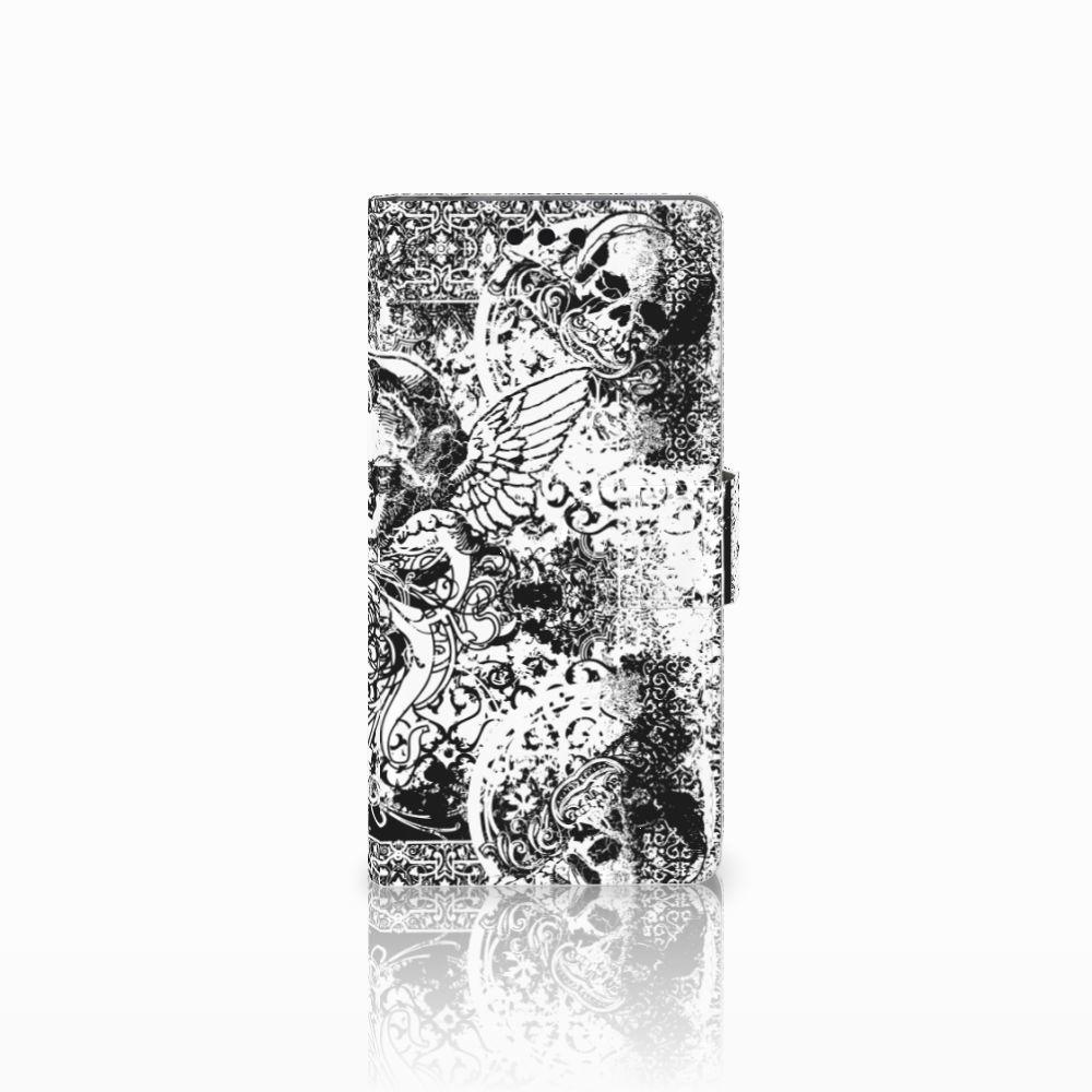 Sony Xperia M4 Aqua Boekhoesje Design Skulls Angel