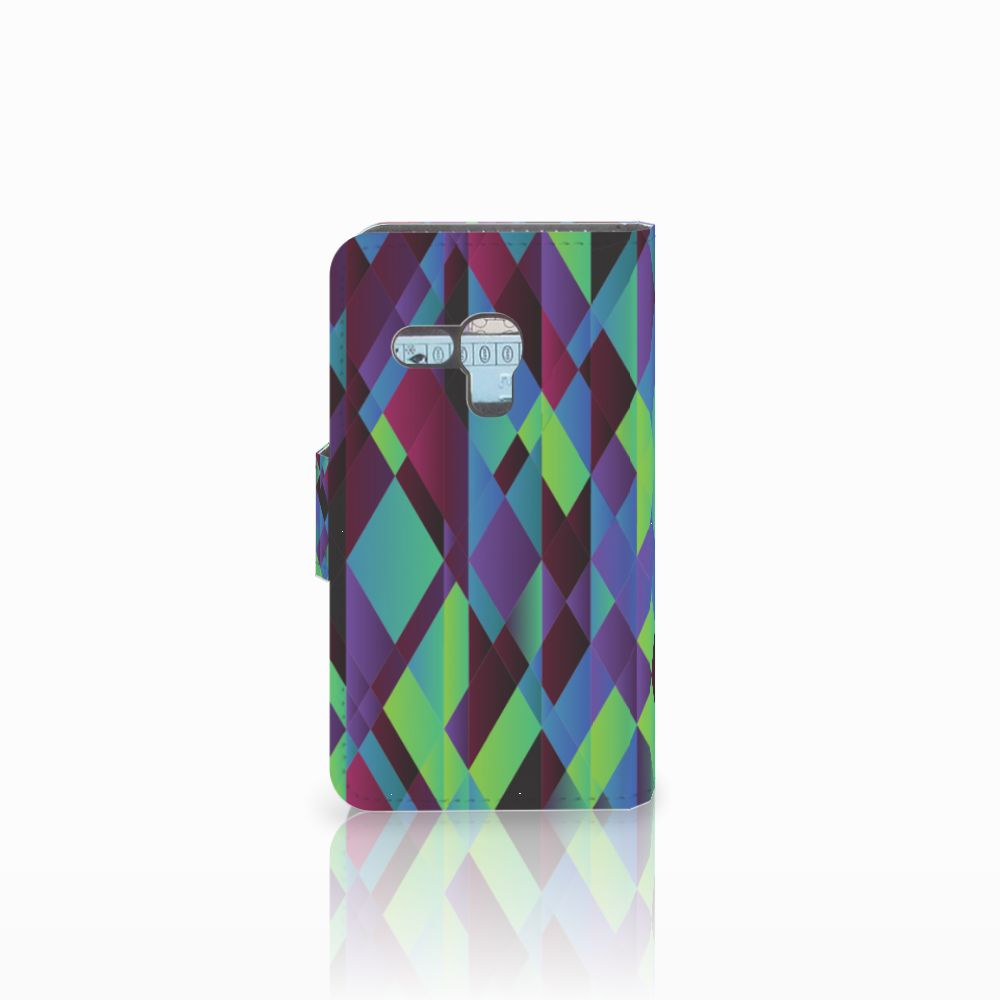 Samsung Galaxy S3 Mini Bookcase Abstract Green Blue