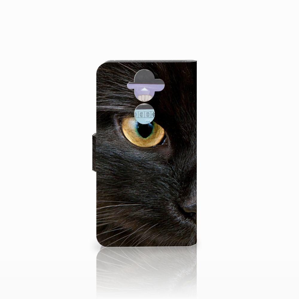 Nokia 8 Sirocco   Nokia 9 Telefoonhoesje met Pasjes Zwarte Kat