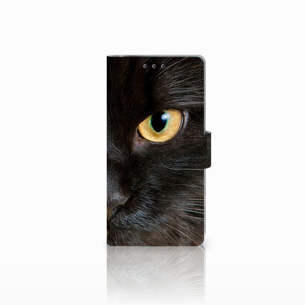 Sony Xperia X Performance Uniek Boekhoesje Zwarte Kat