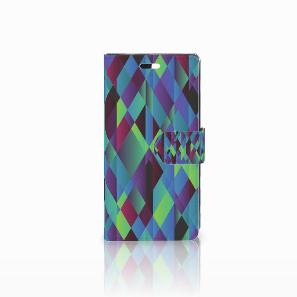 Huawei Y635 Bookcase Abstract Green Blue