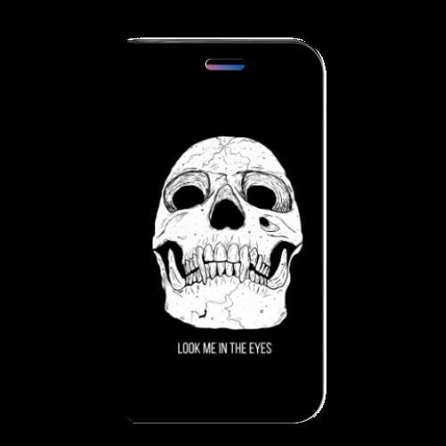 Apple iPhone X | Xs Uniek Standcase Hoesje Skull Eyes